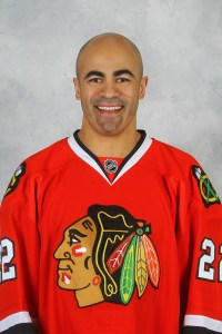 Jamal Mayers ends his NHL career on top, winning the Cup with Chicago last season.