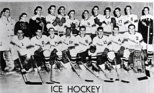 Brittain and Norwalk High School hockey team circa 1962.