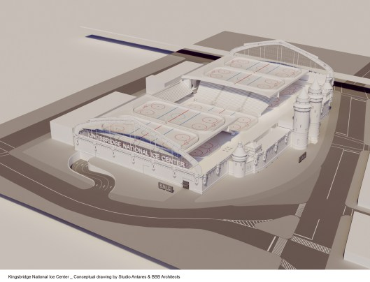 Kingsbridge National Ice Center rendering.