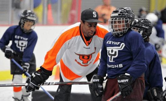Philadelphia Flyers  players like forward Wayne Simmonds volunteer their time to Snider Hockey, the late Ed Snider's legacy.