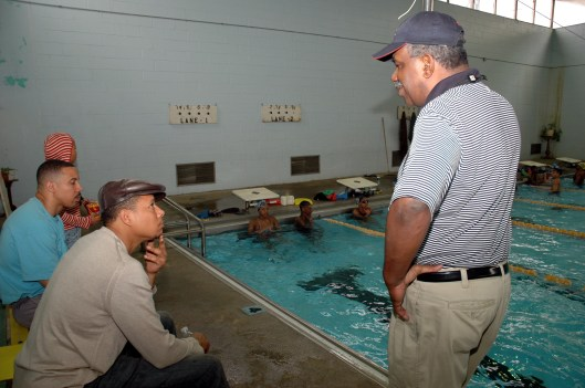 PDR Coach  Jim Ellis chats with actor Terrence Howard in 2007 in Philadelphia (Photo: Marissa J. Weekes)