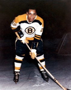 Kwong's jersey joins Willie O'Ree's stick in Hall of Fame (Photo/Hockey Hall of Fame.)