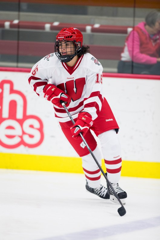 Sarah Nurse, earned IIHF gold for Canada, seeks NCAA title with Badgers (Photo/David Stluka)