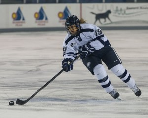 U of New Hampshire's Cassandra Vilgrain learned hockey from dad, ex-NHLer Claude Vilgrain.