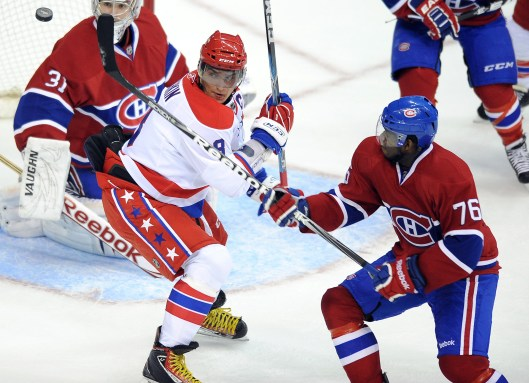 P.K. Subban will be jousting with the NHL's best, like Washington's Alex Ovechkin, for the next 8 seasons for Montreal (Photo/Chuck Myers)