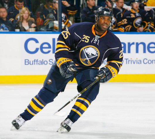 Rugged forward Mike Grier had two stints with the Buffalo Sabres during his 15-year NHL career (Photo/Bill Wippert)
