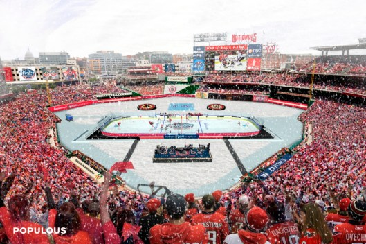 Forget a White Christmas. The NHL is dreaming of a white 2015 Winter Classic in this artist's rendering.