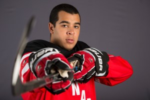 Nick Baptiste, a Buffalo Sabres 2013 draft pick (Matthew Murnaghan/Hockey Canada Images).