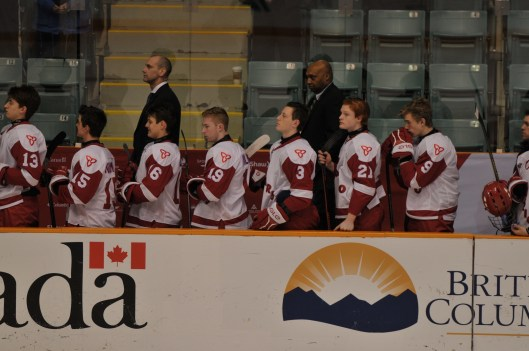 Team Ontario Assistant Coach Cyril Bollers, second row, right.