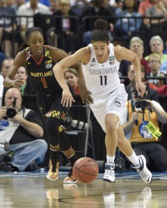 UConn guard Kia Nurse adds to the family championship trophy case.