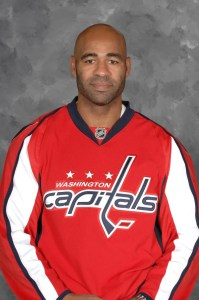 Donald Brashear  launched a quest to make an affordable hockey stick.