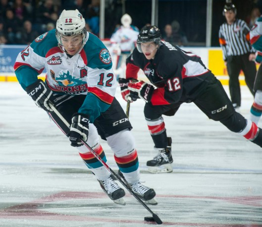 Injured Kelowna Rockets forward Tyrell Goulbourne will root for his team in the Memorial Cup from the sidelines (Photo/Marissa Baecker/Kelowna Rockets).