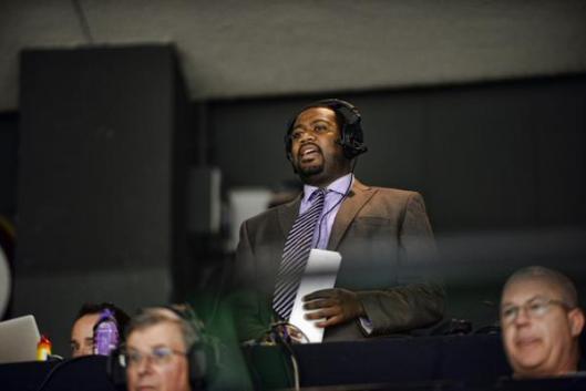 At 26, Everett Ftizhugh rocks the mic as play-by-play announcer for the ECHL's Cincinnati Cyclones.