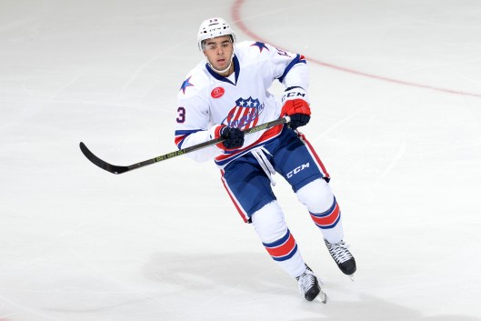 Rochester Americans forward Nick Baptiste is adjusting to bigger, stronger, faster AHL (Photo/Micheline Veluvolu, Rochester Americans).