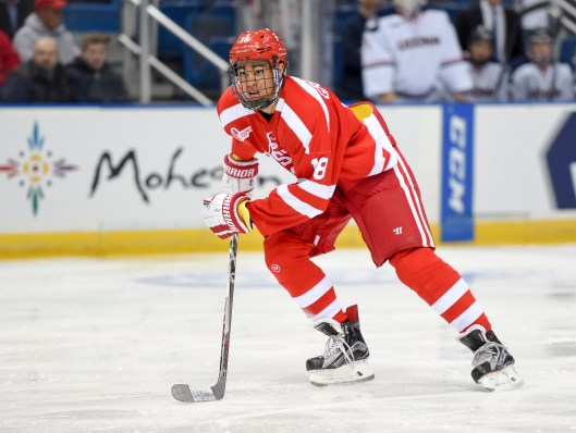 After a slow start, Boston University freshman Jordan Greenway, a Minnesota Wild 2015 second-round draft pick, found his scoring touch with the Terriers.
