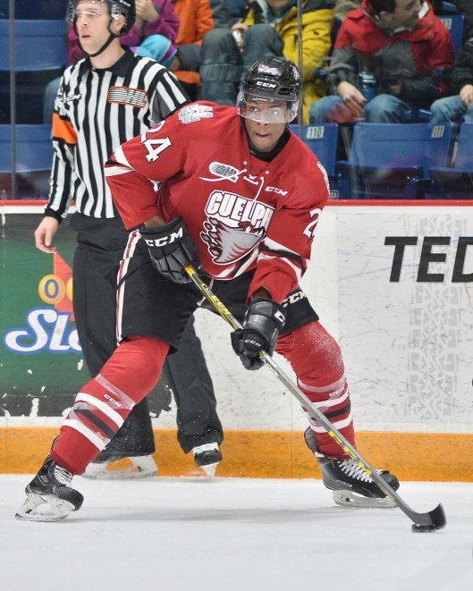 Givani Smth's physical game and soft scoring hands made him attractive to the Detroit Red Wings(Photo/Terry Wilson/OHL Images).
