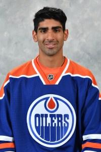 Edmonton Oilers center Jujhar Khaira.