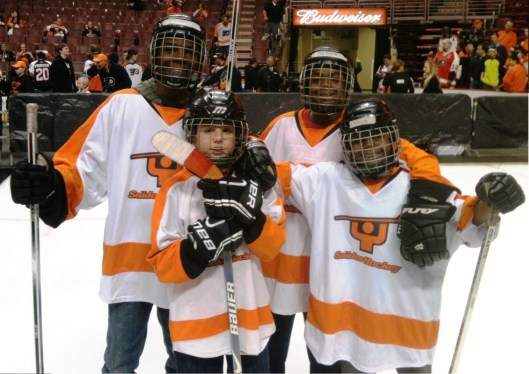 Victory is ours!! The Ed Snider youth Hockey Foundation outraised New York's Ice Hockey in Harlem in a friendly fundraising competition over the Thanksgiving holiday.