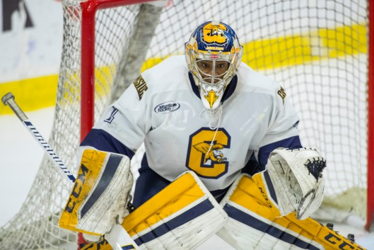 b81d80ca284 Canisius College goalie Charles Williams signed a contact with the ECHL s  Manchester Monarchs in March ( (Photo Canisius College).