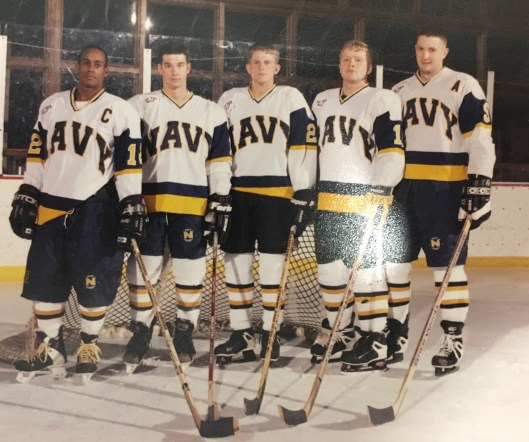2c33838931a Ralph Featherstone s U.S. Naval Academy hockey teammates voted him team  captain in his senior year (Photo Courtesy of Ralph Featherstone).