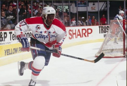 3e4b0fc6cbd Washington Capitals forward Reggie Savage scored his first NHL goal on a  penalty shot in 1992 (Photo Washington Capitals).