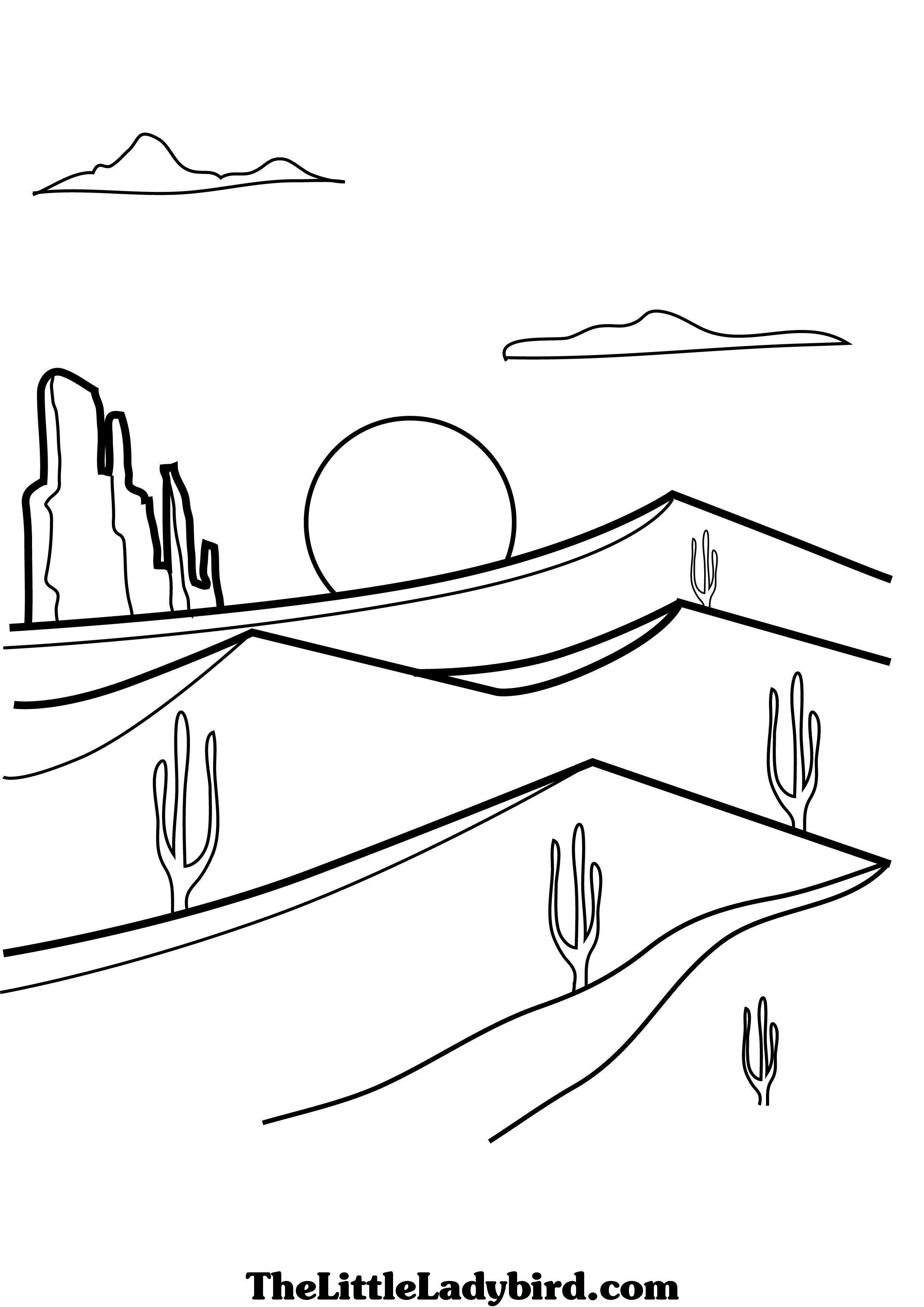 Desert Free Online Coloring Color On Pages Coloring