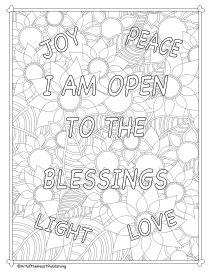 I AM open to the blessings-flowers