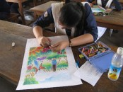 We did a video photoshoot during a Fine Art Class in our school, the students of Class 7 were having a great time exploring new ideas as they worked on Colorscapes...!