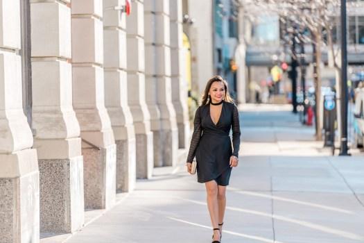 colors of mei, mei, milwaukee fashion blogger, milwaukee lifestyle blogger, little black dress ideas, choker dress, guess dress, dressobsessed, downtown milwaukee, black dress ideas, short black dress, black dress sleeves