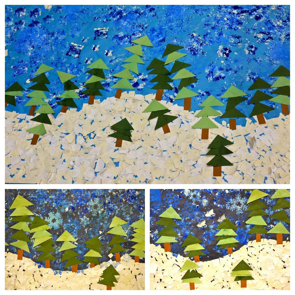 Preschool Winter Mural