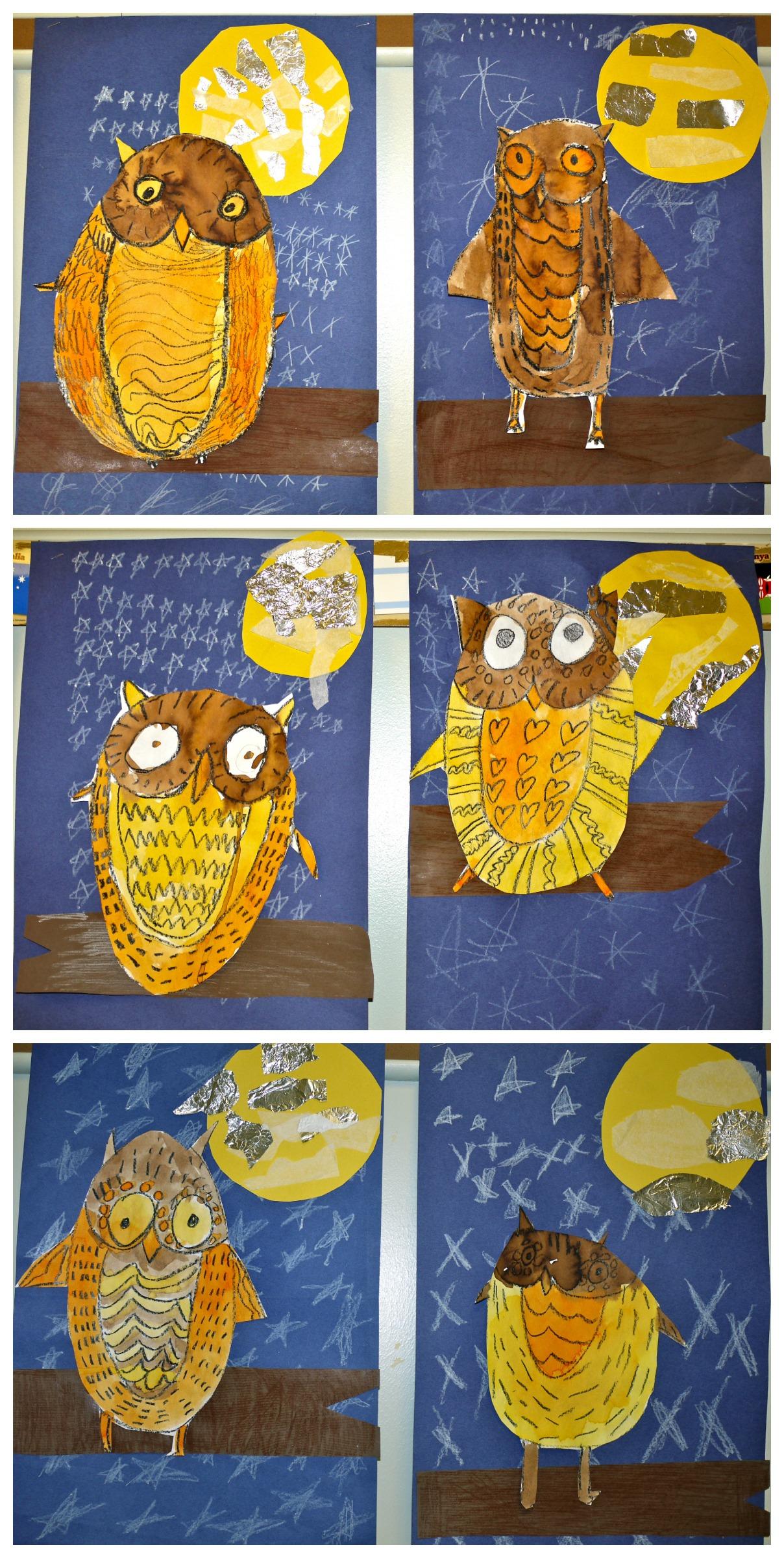 1st Grade Pattern Owls