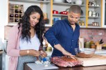 Jake and Jazz prep to make Apricot and Mustard Glazed Baby Back Ribs, as seen on Cooking Channel's What's Cooking With The Smollets, Season 1.
