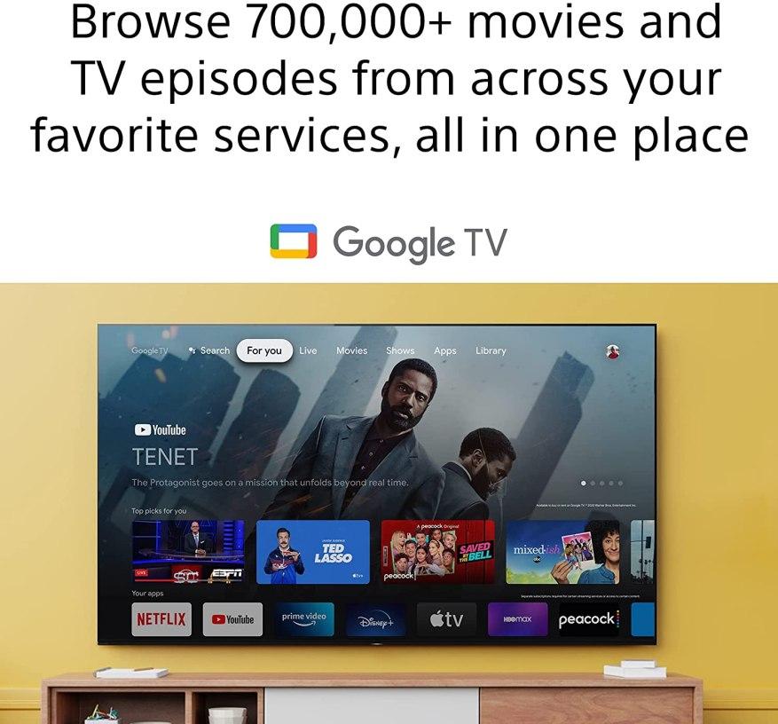 Sony A80J Google TV