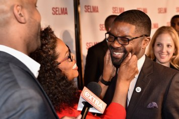 SELMA, AL - JANUARY 18: EDITORIAL USE ONLY Oprah Winfrey greets David Oyelowo on January 18, 2015 in Selma, Alabama. (Photo by Paras Griffin/Getty Images for Paramount Pictures)