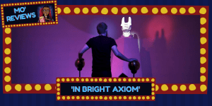 A man meets one of the strange creatures in In Bright Axiom.