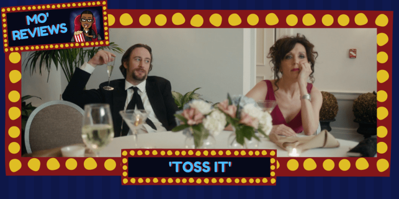 Phil Burke and Michele Remsen in Toss It as Finn and Emily, miserable at Finn's brother's wedding.