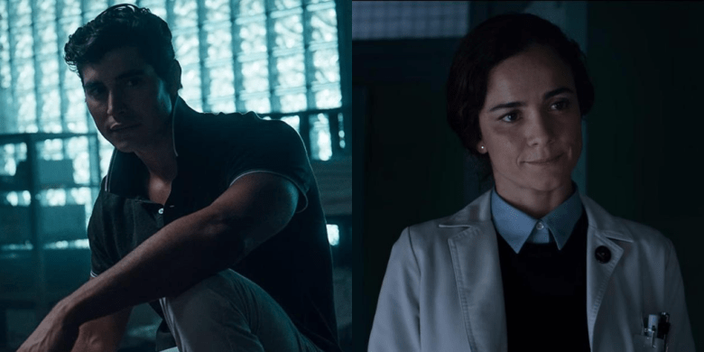 Henry Zaga and Alice Braga in The New Mutants