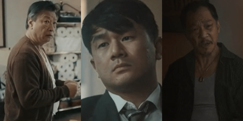 Tzi Ma, Ronny Chieng and Perry Yung in A Father's Son. (Photo credit: Patrick Chen)