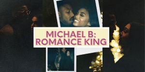 Michael B. Jordan and Lori Harvey in Instagram pictures