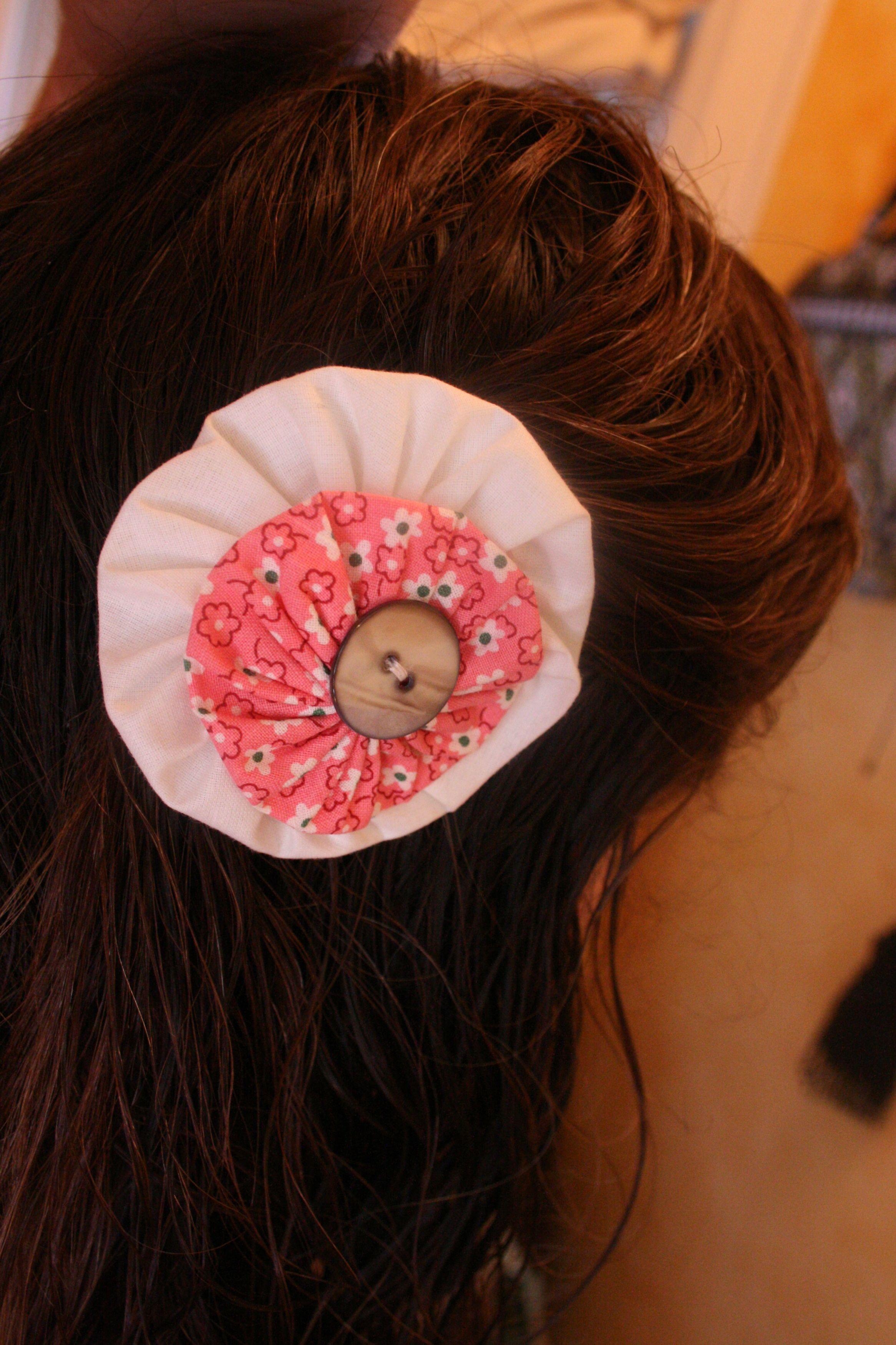 DIY Yo Yo Flower Hair Clips Roue De Couleur