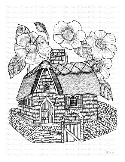 Stone and Thatch Fairy House