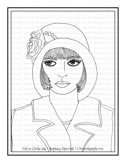 Girl in Cloche Hat