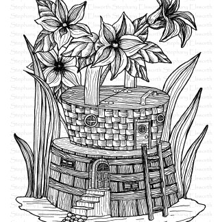 Planter and Basket Fairy House