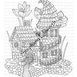 Fairy Castle Coloring Page