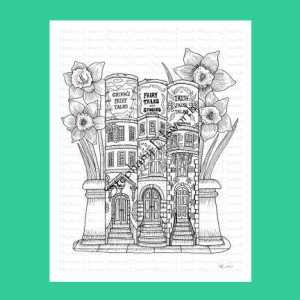 Brownstone Books Fairy House Coloring Page