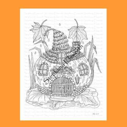 Gourd Fairy House Coloring Page