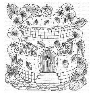 Strawberry Patch Fairy House