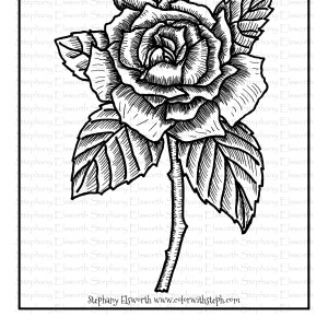 Rose Blossom Coloring Page