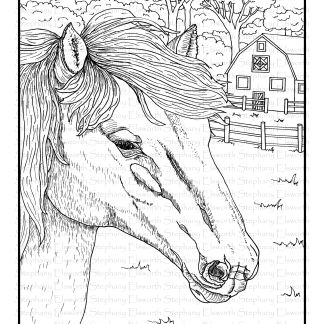 Horse and Barn
