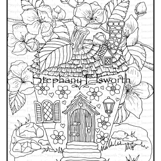 Apple Blossom Fairy House wmm PNG
